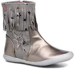 Agatha Ruiz De La Prada Kids's Clever Boots 3 Rounded toe Boots in Silver
