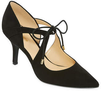 Liz Claiborne Kaylee Womens Pumps Lace-up Pointed Toe Stiletto Heel