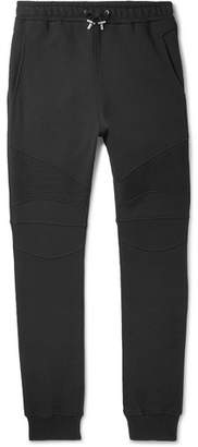 Balmain Slim-Fit Tapered Loopback Cotton-Jersey Sweatpants