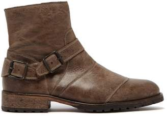 Belstaff Trialmaster Leather Ankle Boots - Mens - Brown