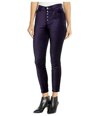 7 For All Mankind High Waist Ankle Skinny Exposed Button
