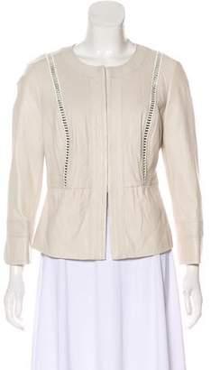 Tory Burch Leather Embellished Jacket