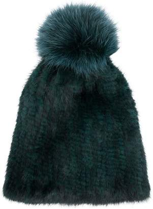 Yves Salomon Accessories knitted beanie