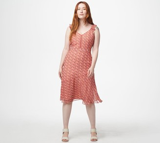 Sam Edelman V-Neck Dress with Flounce Hem
