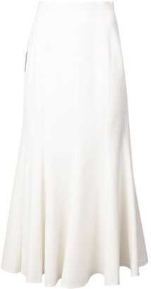 Natasha Zinko colourblock ruffled midi skirt