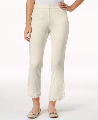 Charter Club Newport Ruffled Cropped Pants