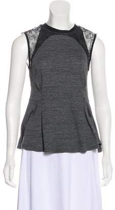 Rebecca Taylor Lace-Trimmed Sleeveless Top