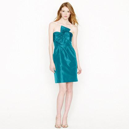 Bow monde dress in silk taffeta 2