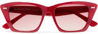 Acne Studios Ingridh Cat-eye Acetate Sunglasses - Red
