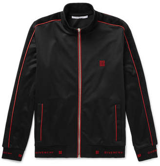 Givenchy Logo-Trimmed Fleece-Back Jersey Track Jacket