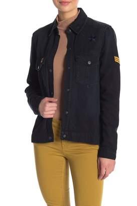 Level 99 Gwen Patched Denim Jacket
