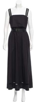 Les Copains Belted Maxi Dress w/ Tags Black Belted Maxi Dress w/ Tags