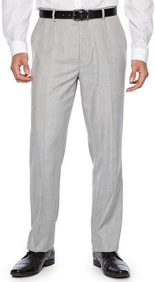 Jf J.Ferrar Plaid Slim Fit Suit Pants