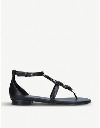 MICHAEL Michael Kors Felicity butterfly-trim leather sandals