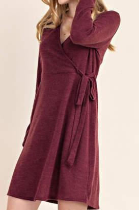 Mittoshop Faux Wrap Sweater Dress
