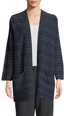 Eileen Fisher Dropped Shoulder Linen Cardigan