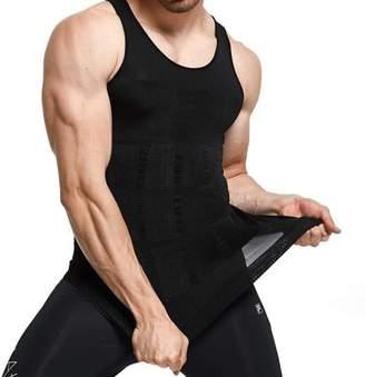 showyourbest Men Waist Trainer Corset Vest for Weight Loss Hot Body Shaper Tank Top Sauna Suit Shirt No Zip Trimmer