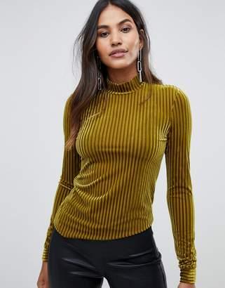 Y.A.S Velvet Stripe Top
