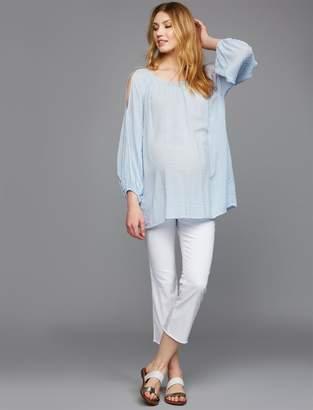 Luxe Essentials Denim Secret Fit Belly Chelsea Crop Boot Maternity Jeans