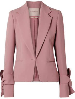 Roksanda Cleoda Bow-embellished Crepe Blazer