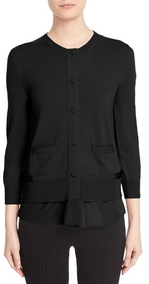 Moncler Women's Moncler Mixed Media Cardigan