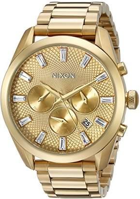 Nixon Women's A931502 Bullet Chrono Analog Display Japanese Quartz Gold-Tone Watch