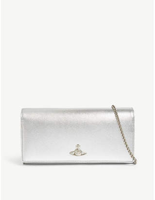 Vivienne Westwood Pimlico metall leather wallet-on-chain