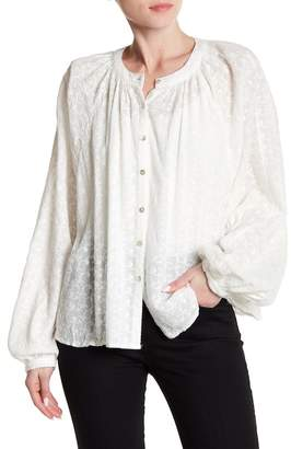 Free People Down From The Clouds Embroidered Blouse