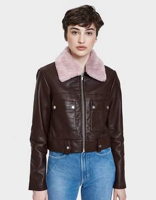 Veda Freeman Jacket with Pink Collar