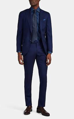 Isaia Men's Sanita Stretch Wool-Silk Two-Button Suit - Blue