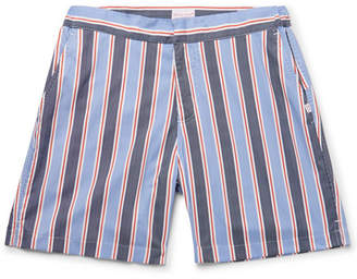 Derek Rose Bali 2 Slim-Fit Mid-Length Printed Swim Shorts - Men - Blue