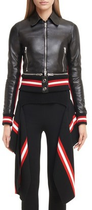 Women's Givenchy Lambskin Leather Jacket With Zip Off Hem $4,520 thestylecure.com