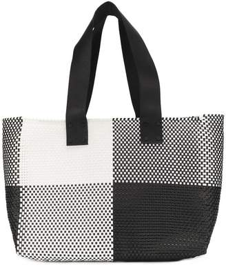 Truss Nyc check top-handle tote