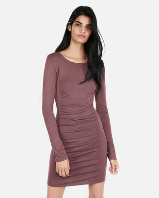 Express Ruched Sweater Dress