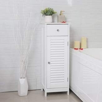 Ktaxon Bathroom Storage Floor Cabinet, Bathroom Cabinet free standing with Single Drawer and Shelf,White