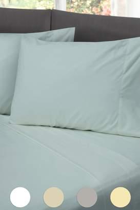 Rio Home Hotel Laundry Cotton Rich Sheet Set - Light Blue