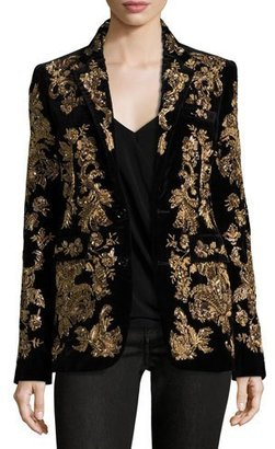 Ralph Lauren Collection Yvette Beaded Two-Button Jacket, Black $8,500 thestylecure.com