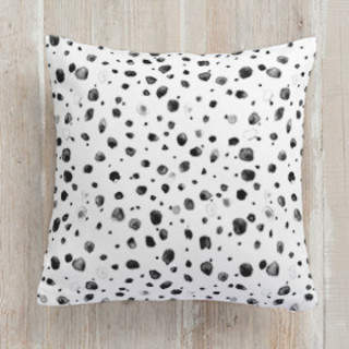 Watercolor Splots Self-Launch Square Pillows