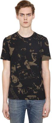 Slim Stretch Wool Blend Jersey T-Shirt $495 thestylecure.com