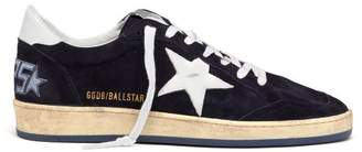 Golden Goose Ball Star Low Top Suede Trainers - Mens - Navy White