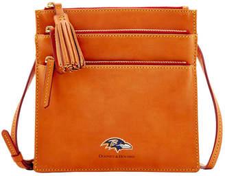 Dooney & Bourke Baltimore Ravens Florentine Triple Zip Crossbody Bag