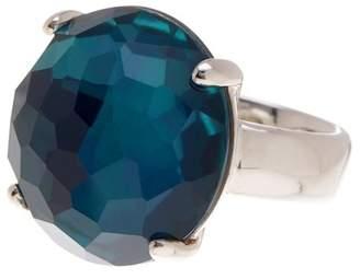 Ippolita Wonderland Large Round Blue Crystal Ring - Size 7