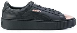 Puma metallic toe lace-up sneakers