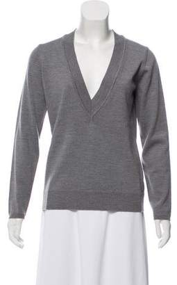 Eileen Fisher Merino Wool Plunging Neck Sweater