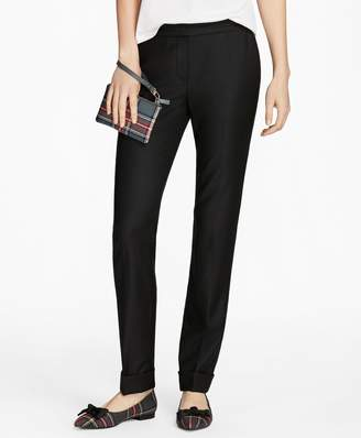 Brooks Brothers Grosgrain-Trimmed Wool-Blend Twill Pants