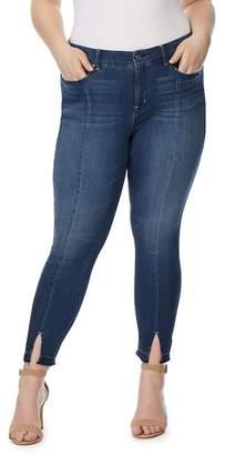 Wilson Rebel X Angels Split Release Hem Skinny Ankle Jeans (Plus Size)