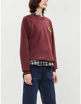 Vivienne Westwood Logo-embroidered round-neck cotton-jersey sweatshirt
