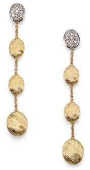 Marco Bicego Siviglia Diamond& 18K Yellow Gold Drop Earrings - Gold