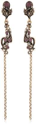 Alcozer & J Long Ruby Earrings