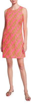 Julie Brown Lula Printed Pocket Sheath Dress